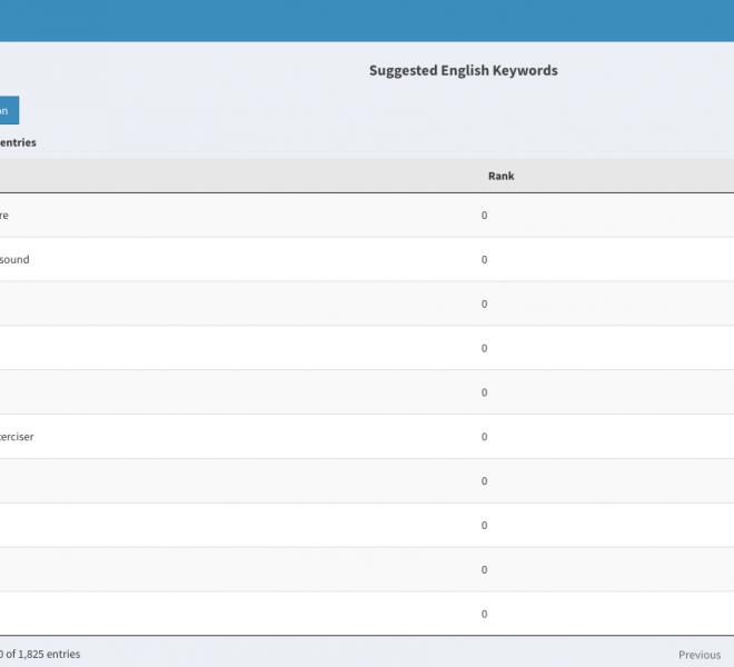 Add Search Keywords