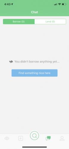 Chat list as borrower