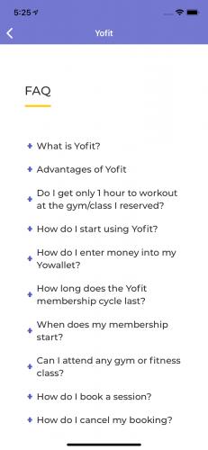 FAQ Screen