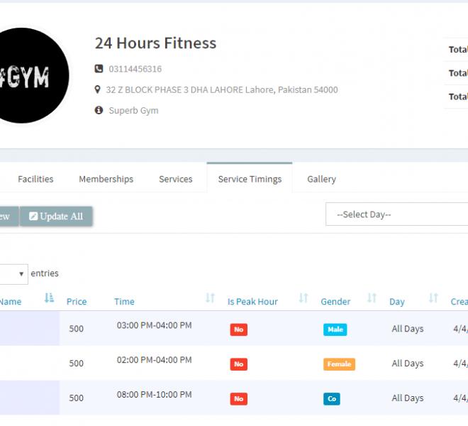 Gym Profile