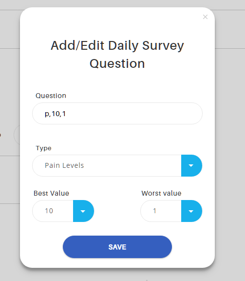 Popup, Daily Survey